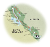 Banff Jasper Canada Map